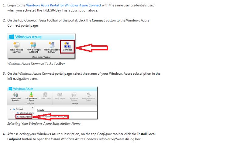 Azure Client Connection