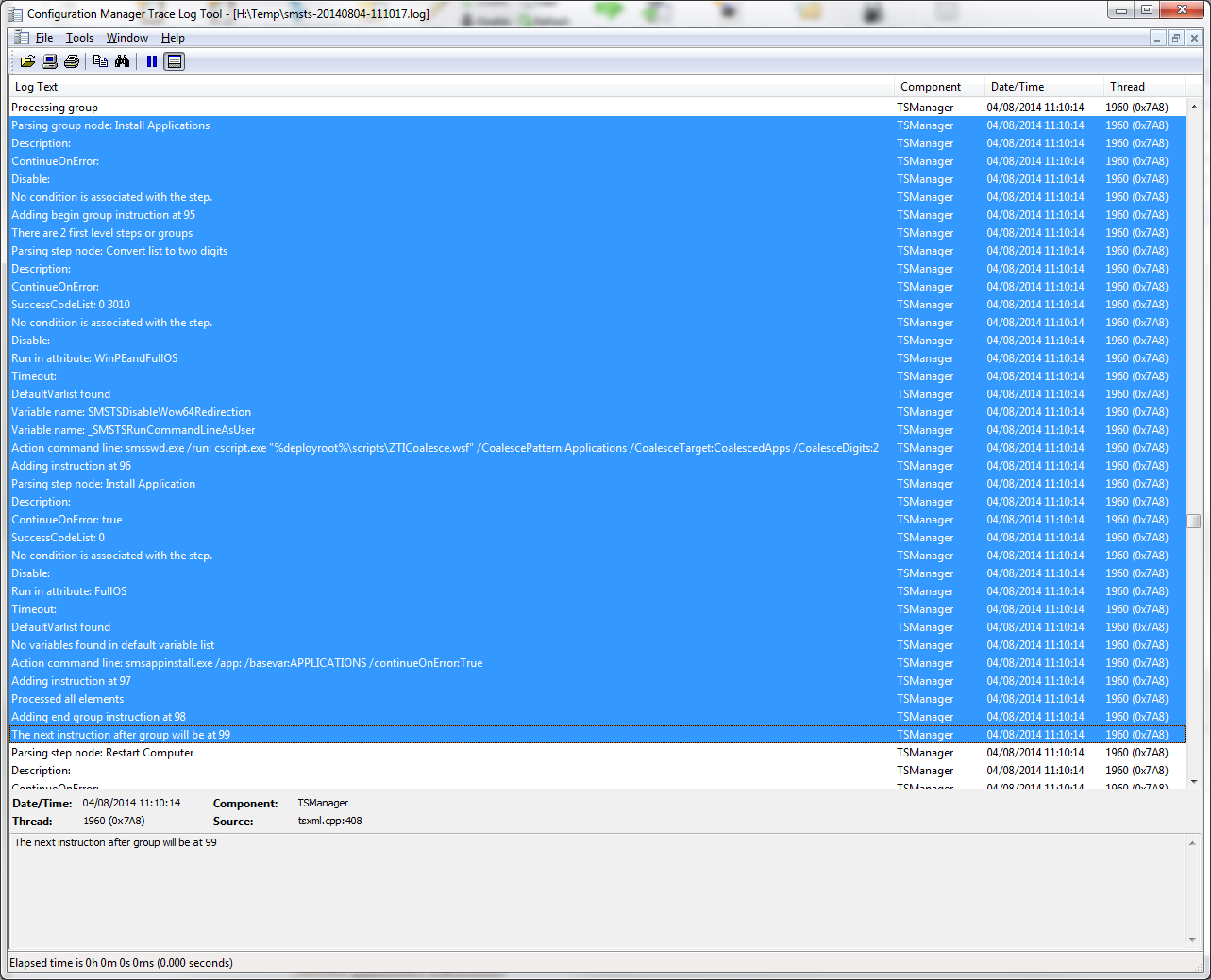 SCCM 2012 R2 - MDT OSD Task Sequence not installing applications