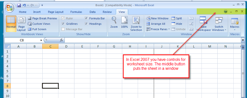 Excel-Worksheet-Windows