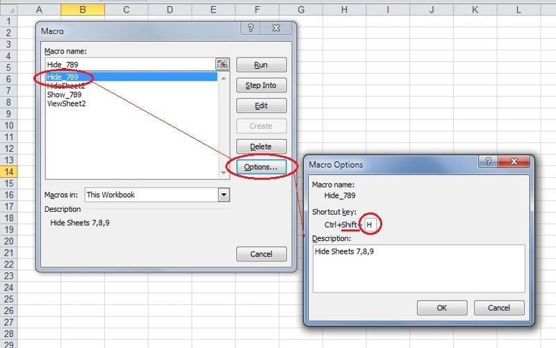 assign shortcut - using SHIFT