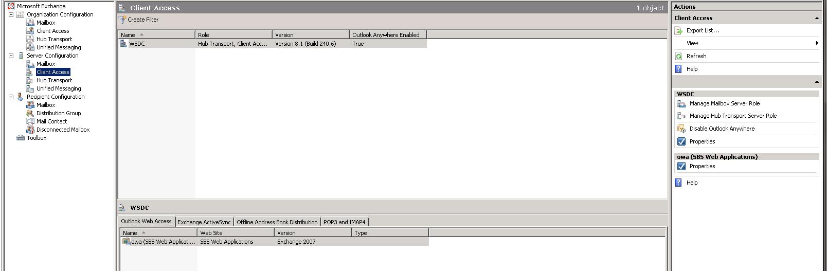 Owa And Activesync Not Working Exchange 2007