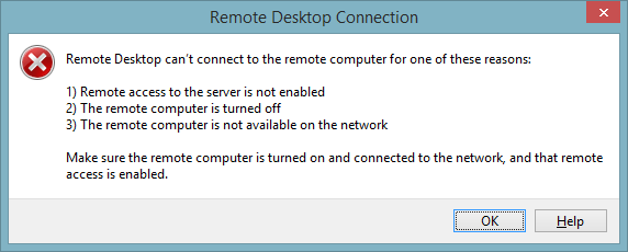 Remote Desktop Client error
