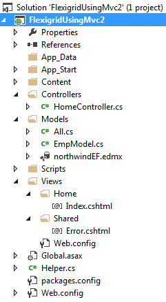 my asp.net mvc directory