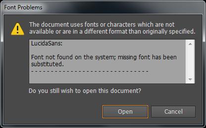Adobe Illustrator CS6 - font not found