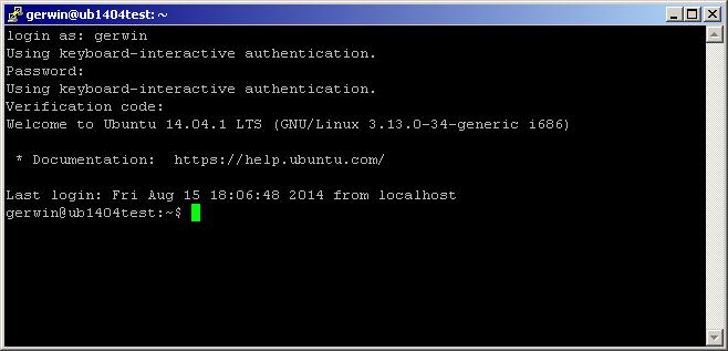 2 factor authentication in Ubuntu 14.04
