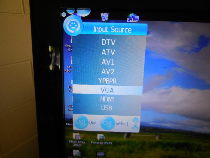 Select input source digital TV