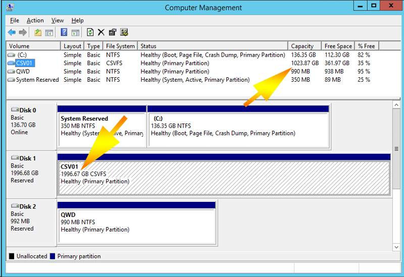 screen shot disk manager