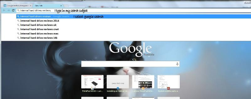 type in search chrome