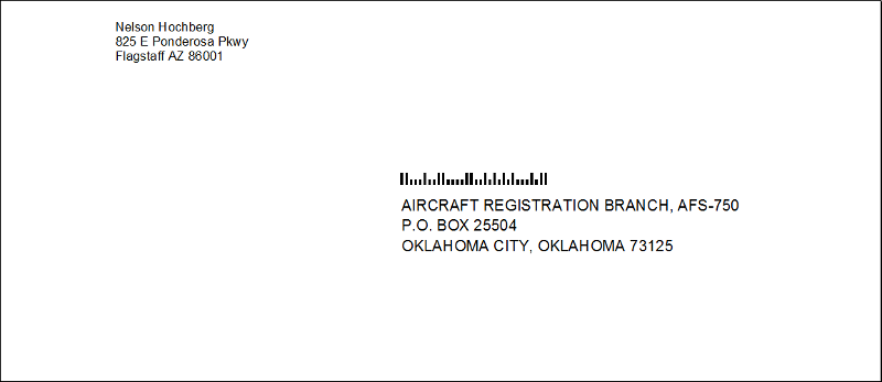 how the envelope should look
