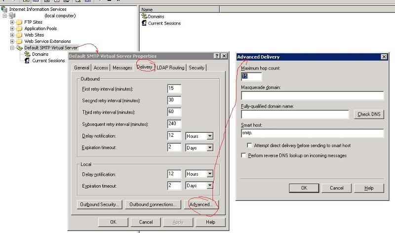Configuring Smart Host