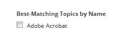 Adobe Acrobat Topic