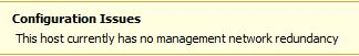 no management redundancy