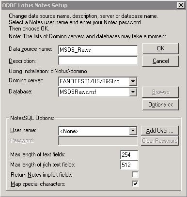 ODBC LOTUS NOTES DESCARGAR CONTROLADOR