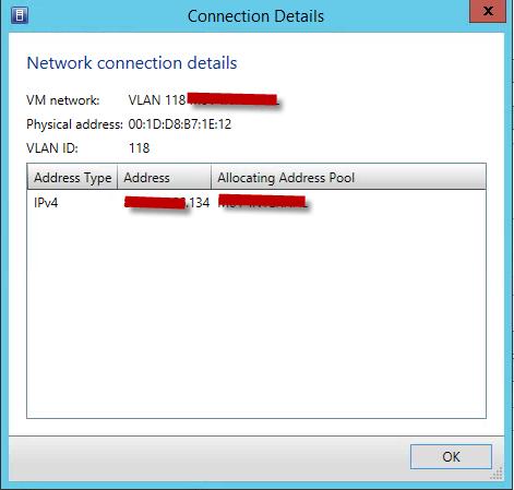 VMM other NIC info