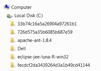 system folders in the file system