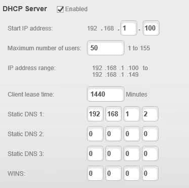 DHCP - DNS Router
