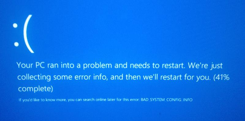 Windows 8 error message