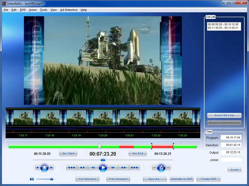 VideoReDo UI