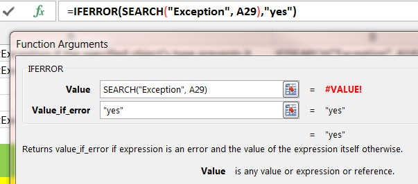 if error