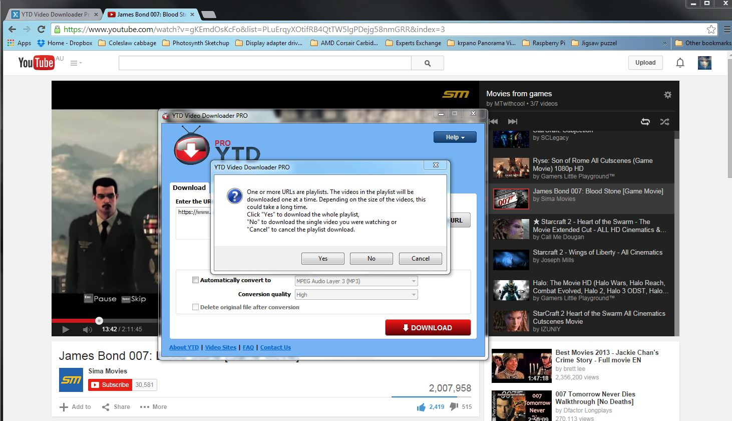 YTD Video Downloader Pro --- How to download and entire