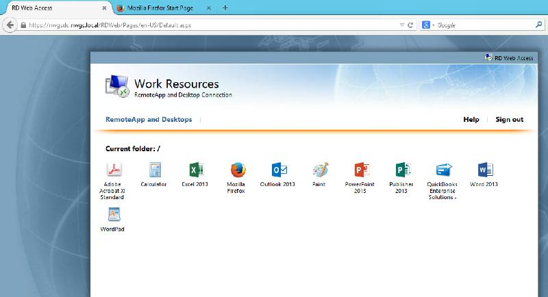 RD Web Access