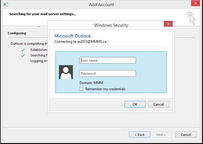 Outlook setup
