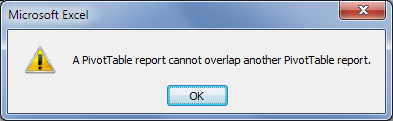 overlap error message