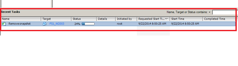 Snapshot Removal in VSphere Client