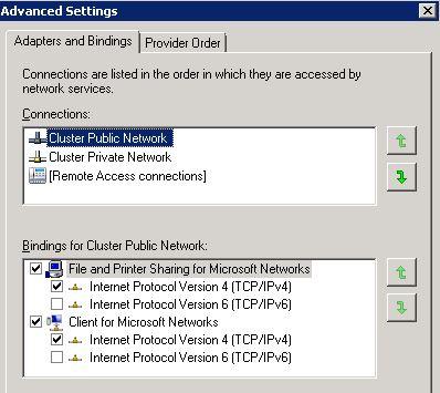 Network Binding Order