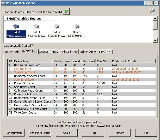 Passmark Disk Checkup