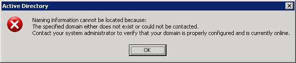 Active Directory error