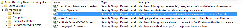 Administrators group in Domain
