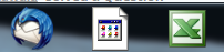Icons for Thunderbird, Word, and Excel on the Taskbar
