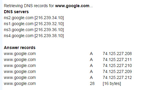 network-tools DNS lookup