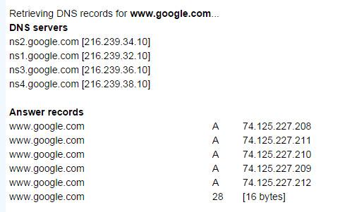 network-tools DNS lookup