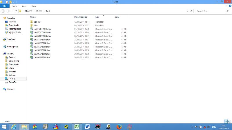 My .csv file locations