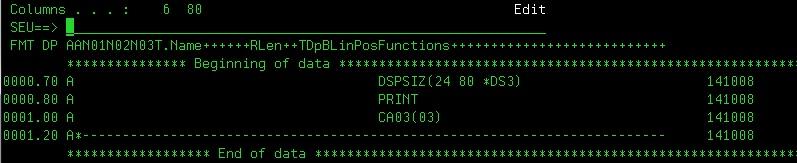 Display-file screen-shot