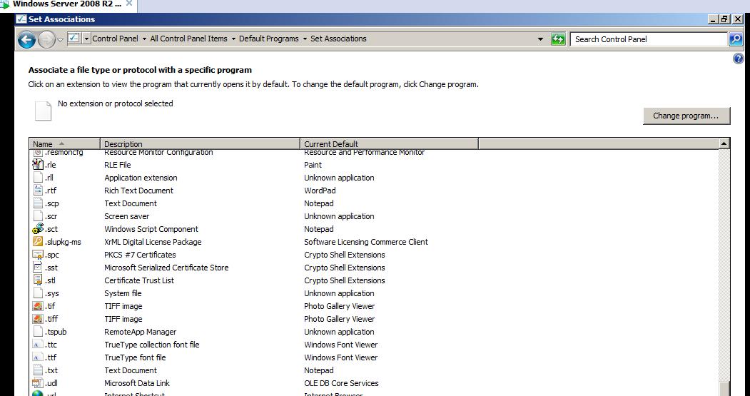 SOLUTION] RDS - How to set up default program application