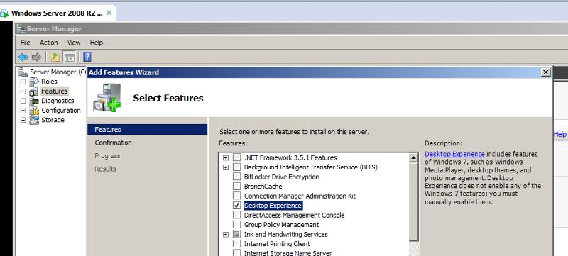 DesktopExperienceWindowsServer2008R2