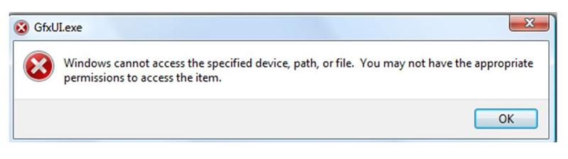 ‌windows cannot access specified file