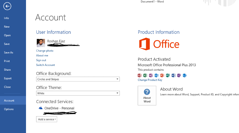 Office 2013 Screenshot