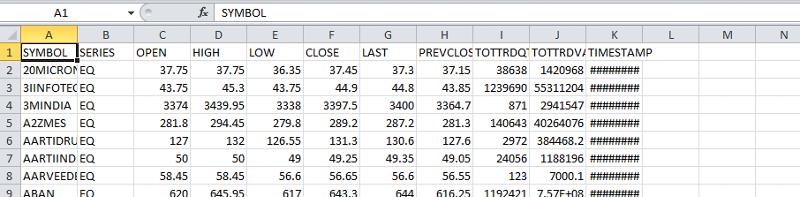 11 column data