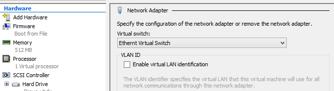 Check your Virtual Switch setting