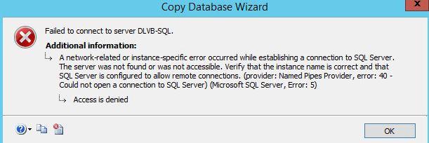 sql error 5