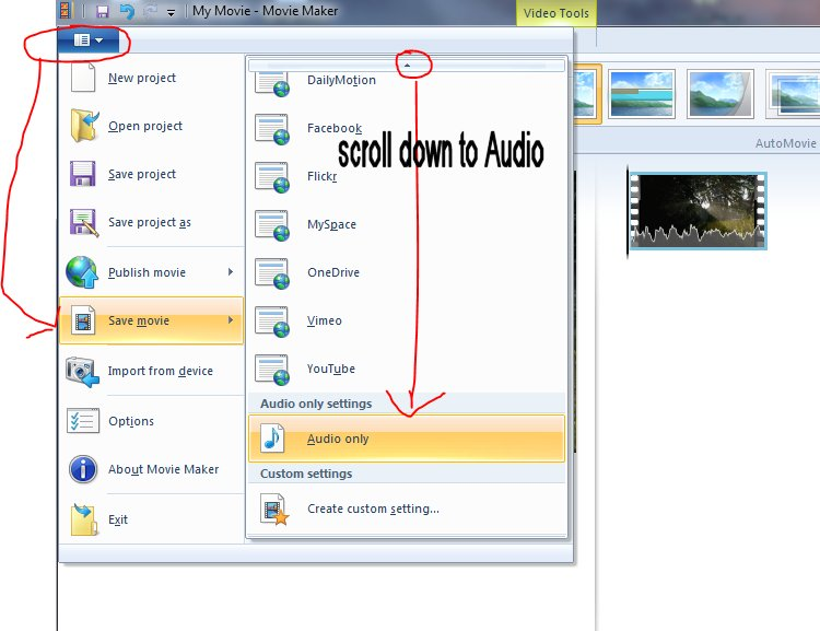 File save Audio