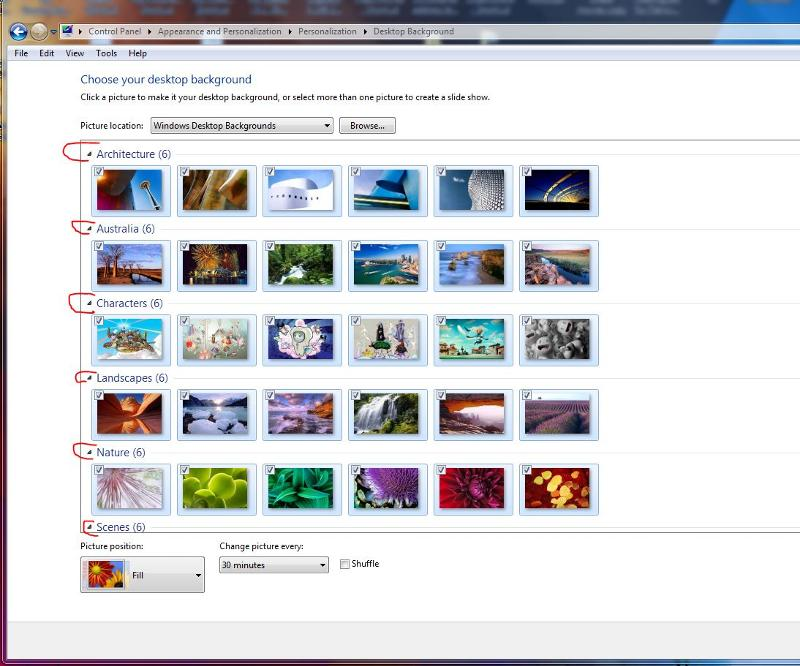 windows 7 default aero themes