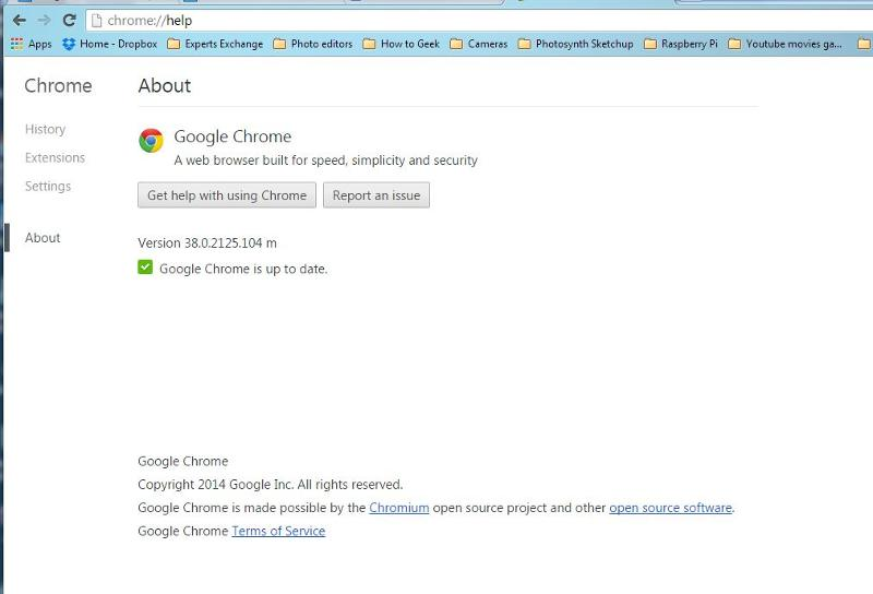 Chrome version