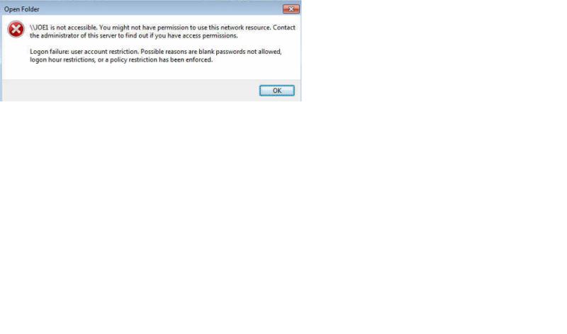 Open Folder Error