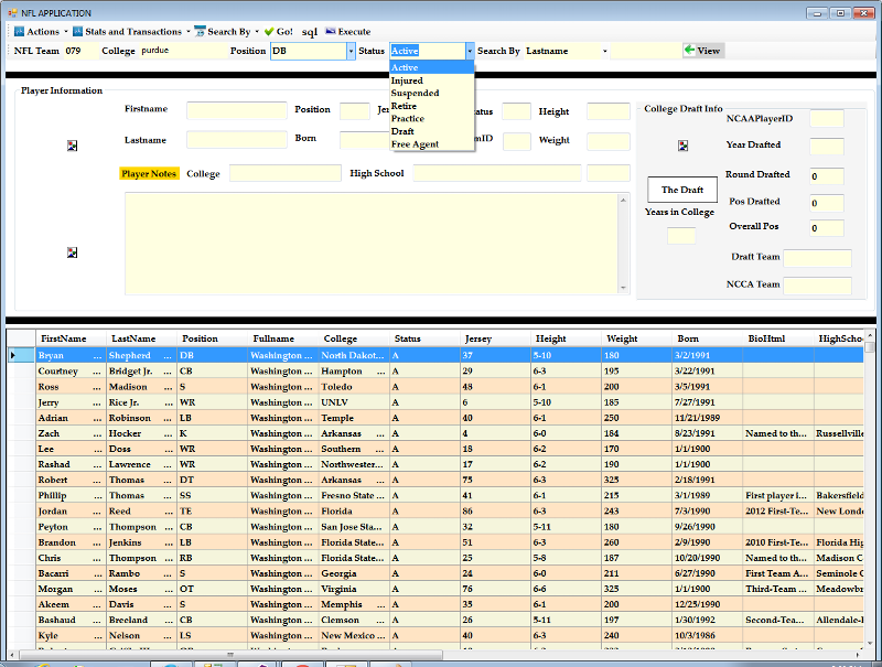 Another screen shot The toolbar is a sql query builder