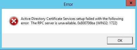 Screenshot of RPC error